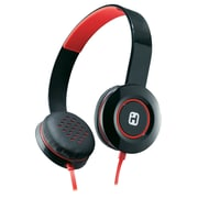 iHome iB35BRC Over-the-Head Stereo Headphones, Black/Red