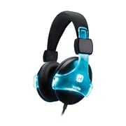 iHome iB37BC Over-the-Head Headphones with Microphone, Black/Blue