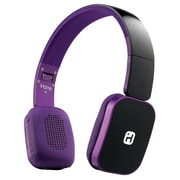 iHome iB86BUC Over-the-Head Bluetooth Wireless Headphones with Microphone, Purple