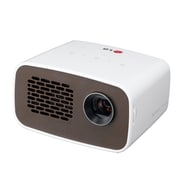 LG PH300 MiniBeam HD LED Projector, White/Brown