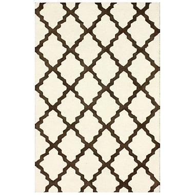 nuLOOM Marbella Moroccan Trellis Kilim Ivory Area Rug; 3'6'' x 5'6''