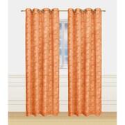 Window Elements Garden Semi-Sheer Extra Wide Grommet Single Curtain Panel; Rust
