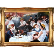 Tori Home Luncheon of The Boating Party by Renoir Framed Hand Painted Oil on Canvas