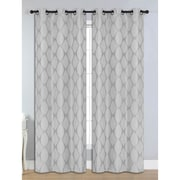 Bella Luna Julia Room Darkening Grommet Thermal Curtain Panels (Set of 2); Silver