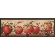 Illumalite Designs Apple Wall Art Plaque with Pegs (Set of 4)