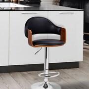 AdecoTrading Adjustable Height Swivel Bar Stool with Cushion