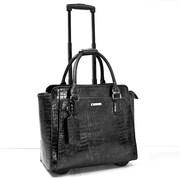 """Cabrelli & Co. 715020 Empire Croco 15.6"""" Rolling Laptop Bag"""