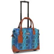 "Cabrelli & Co. 715026 Bali Reptile 15.6"" Rolling Laptop Bag, Multi-Blue"