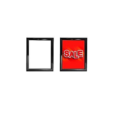 Futech – Porte-affiche en cadre encliquetable à coins à onglet, 11 larg. x 13 haut. (po), noir, paq./2
