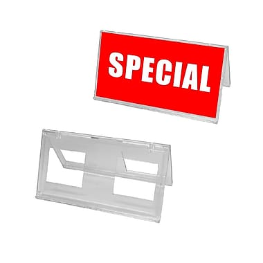 Futech Tent Sign Holder, 3-1/2