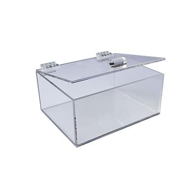 Futech - Organisateur en acrylique, 4 3/4 long. x 5 7/8 larg. x 2 3/4 prof. (po), incolore, paq./2
