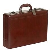 Mancini Business Leather Attach  Case; Tan