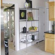 A-Line by Advance Tabco Wire Storage 4 Shelf Shelving Unit Kit; 74'' H x 36'' W x 24'' D