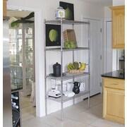 A-Line by Advance Tabco Wire Storage 4 Shelf Shelving Unit Kit; 74'' H x 36'' W x 14'' D