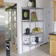 A-Line by Advance Tabco Wire Storage 4 Shelf Shelving Unit Kit; 74'' H x 36'' W x 18'' D