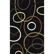 Momeni Elements Black Area Rug; 8' x 11'