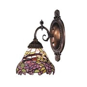 Landmark Lighting Mix-N-Match 1 Light Wall Sconce with Leaves Design Glass Shade