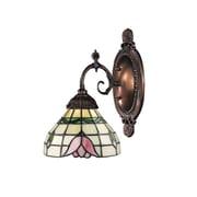 Landmark Lighting Mix-N-Match 1 Light Wall Sconce with Lotus Design Glass Shade