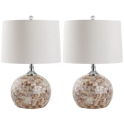 Safavieh Nikki Shell 21.5'' H Table Lamp with Drum Shade (Set of 2)