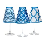di Potter 4.5'' Barcelona Paper Empire Lamp Shade (Set of 6); Isle Blue