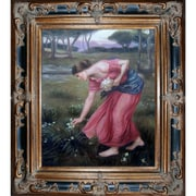 Tori Home Narcissus by John William Waterhouse Framed Hand Painted Oil on Canvas