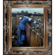 Tori Home The Flower Picker by John William Waterhouse Framed Hand Painted Oil on Canvas