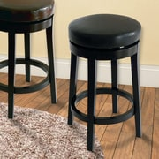 Armen Living 30'' Swivel Bar Stool; Black
