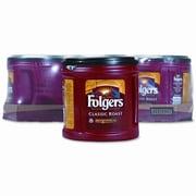 PROCTER & GAMBLE Folgers Ground Coffee, Classic Roast Regular, 6/Carton