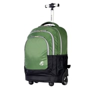 "Olympia Gen-X 20"" Rolling Backpack; Green"