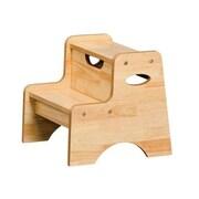 KidKraft 2-Step Manufactured Wood Step Stool; Natural