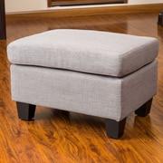 Home Loft Concepts Jae Ottoman; Ash Grey
