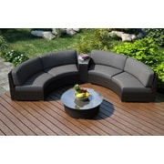 Harmonia Living Arden Eclipse 4 Piece Lounge Seating Group with Cushion; Canvas Charcoal