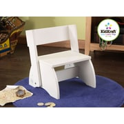 KidKraft 1-Step Manufactured Wood Kid's Flip Step Stool; White