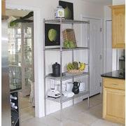 A-Line by Advance Tabco Wire Storage 4 Shelf Shelving Unit Kit; 74'' H x 60'' W x 18'' D