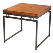 Reual James Moon End Table; Cognac