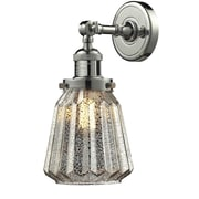 Innovations Lighting 1 Light Glass Wall Sconce; Polished Nickel