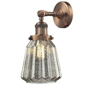 Innovations Lighting 1 Light Glass Wall Sconce; Antique Copper