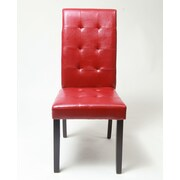 Roundhill Furniture Lyon Parson Chair (Set of 2); Red
