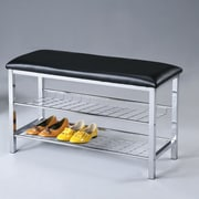 Roundhill Furniture Metal Shoe Bench