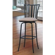 Roundhill Furniture Adjustable Height Swivel Bar Stool with Cushion