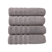 Makroteks Textile L.L.C. Salbakos Antalya Classic Luxury 4 Piece Towel Set (Set of 4); Rock Ridge
