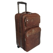 AmeriLeather Waxy 25'' Expandable Suitcase with Wheels