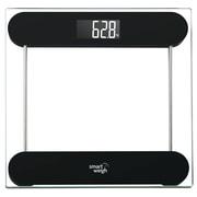 Smart Weigh Tempered Glass Digital Bathroom Scale; Black