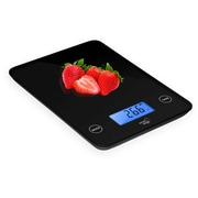 Smart Weigh Digital Glass Top Kitchen and Food Scale; Black