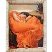 Tori Home Flaming June by Frederic Leighton Graphic Art on Canvas
