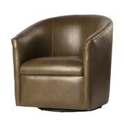 Comfort Pointe Draper Swivel Barrel Chair; Mink