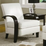 Roundhill Furniture Wonda Bonded Leather Arm Chair; White