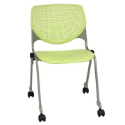 KFI Seating Kool Series Armless Stacking Chair; Lime Green