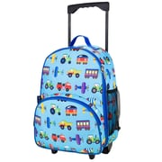 Wildkin Olive Kids Trains, Planes and Trucks Rolling Backpack