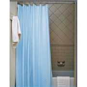 J&V Textiles Vinyl Shower Curtain (Set of 4); Light Blue